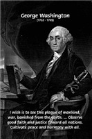 George Washington: American Revolution War Peace