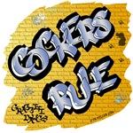 Cockers Rule! (Blue Graffiti Lettering)