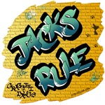 Jacks Rule! (Green Graffiti Lettering)