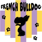 French Bulldog Yellow/Purple Stripe