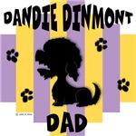 Dandie Dinmont Terrier Dad - Yellow/Purple Stripe