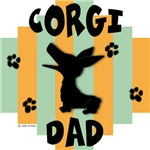 Welsh Corgi Dad - Green/Orange Stripe