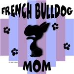 French Bulldog Mom - Blue/Purple Stripe