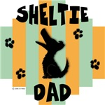 Sheltie Dad - Green/Orange Stripe
