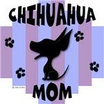 Chihuahua Mom Blue/Purple Stripe
