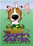 Rough Collie - Happy Easter