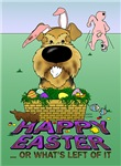 Airedale Terrier - Happy Easter