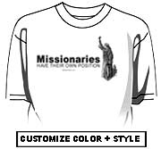 Missionaries have their own position