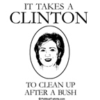 It takes a Clinton to clean up after a Bush