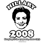 Hillary 2008: Keeping it in my pants
