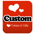 I Love Custom T-shirts & I Heart Custom T-shirts