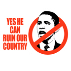 Yes he can ruin our country
