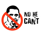 No he can't / Anti-Obama