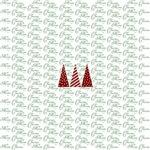 Merry Christmas Three Trees red