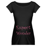 Expect Wonder Maternity Tee in Black or White
