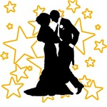 Couple Ballroom Dancing with Stars
