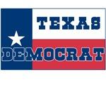 Texas Democrat with Texas Flag