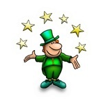 Cute Leprechaun with Stars