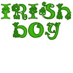 Irish Boy with Shamrocks