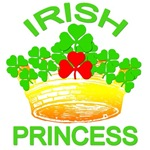 Irish Princess with Crown and Shamrocks