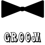 Funny Black Tie Groom T-shirt and Button