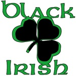 Black Irish with Black Shamrock