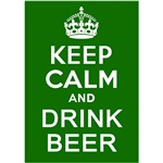 Keep Calm and Drink Beer Irish Tshirts, Drinkware
