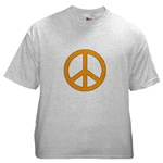 Orange Peace Symbol 