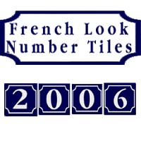 French Look House Number Tiles