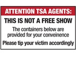 Attention TSA Agents (backside or frontside)