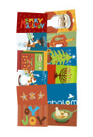 CHRISMUKKAH CARDS WITH BLANK INSIDES: