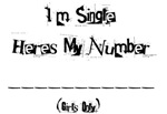 Here's my number (Guys)
