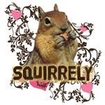 Squirrely Squirrel Lover Art T-shirts Gifts