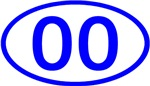 Number Ovals - 00 to 49 (Blue)