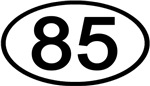 Number 85 Oval (Black)