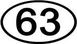 Number 63 Oval (Black)