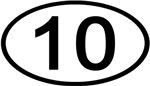 Number 10 Oval (Black)
