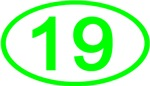 Number 19 Oval (Green)