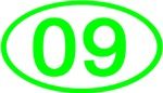 Number 09 Oval (Green)