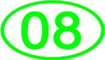 Number 08 Oval (Green)