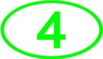 Number 4 Oval (Green)