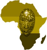 Africa with Mask Monotone