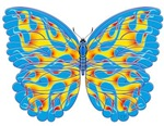 Blue Flame Butterfly