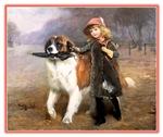 VINTAGE DOG ART: ST. BERNARD