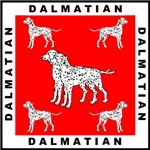 Dalmatians with Red Background