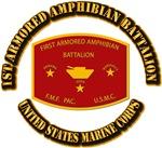 USMC - 1st Armored Amphibian Battalion with Text