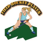 Field Hockey Player with Text
