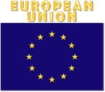 European Union Flag w Txt