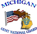 MICHIGAN ARNG with Flag