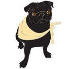 Black Pug Bandana